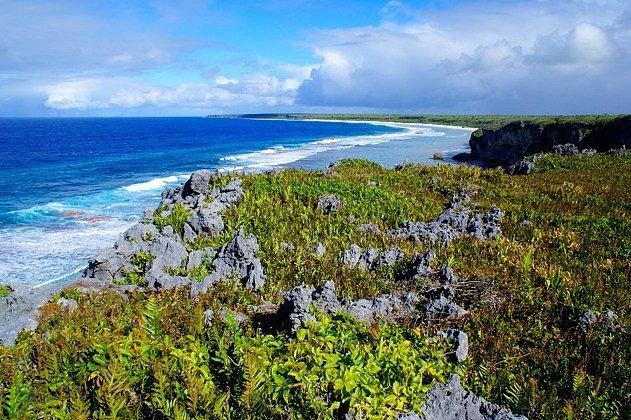 Východní část ostrova Henderson.