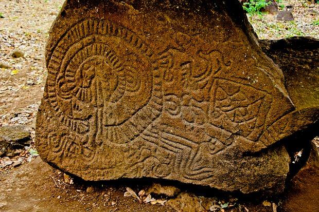 Petroglyfy u vulkánu Maderás