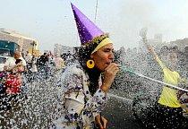 Oslavy ramadánu na náměstí Tahrir v Káhiře (Egypt).