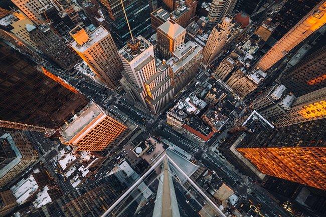 New York a jeho barevná proměna při západu slunce
