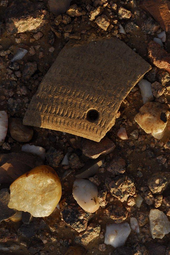Povrchové keramické nálezy, pohoří Sabaloka, výzkumy ČEgÚ.