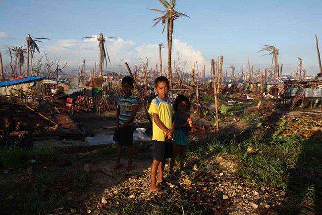 Guiuan byl první zasaženým městem na Filipínách