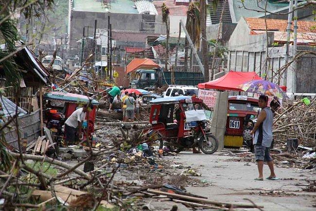 Obraz zkázy v Taclobanu