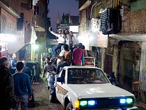 Oslavy v koptské čtvrti.
