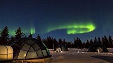 Finsko láká: polární záře a iglů vesnička