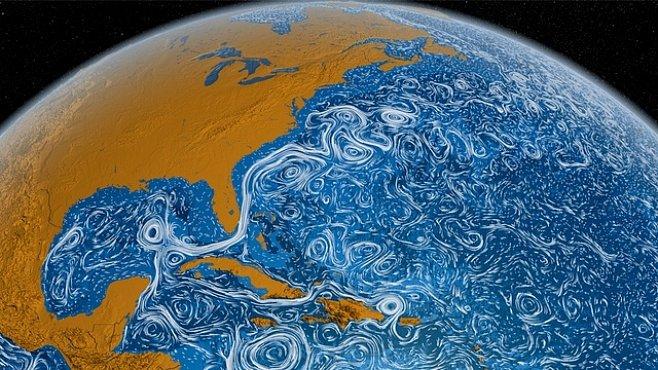 Nová animace oceánů připomíná drogový trip. Anebo obraz od van Gogha?