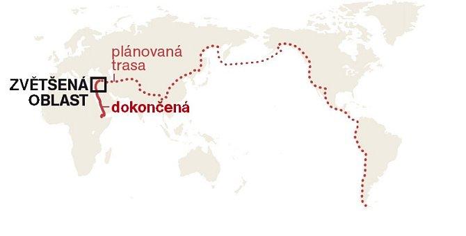 Celá plánovaná trasa Paula Salopek