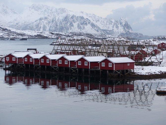 Svolvær, místo, kde se loví treska nejvíce na světě – od ledna do dubna. Norsko, leden 2015.