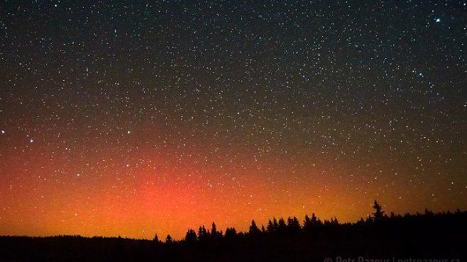 Jak jsem fotil polární záři nad Šumavou
