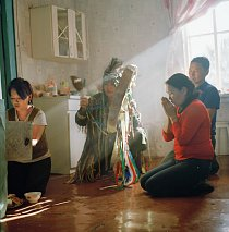 Šamanská ceremonie Tuvinců.
