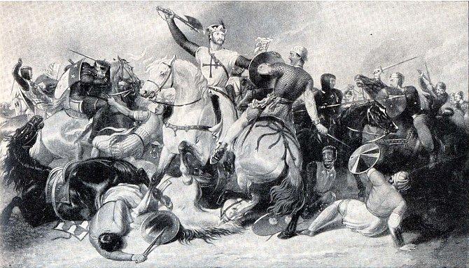 Richard I. 'Lví srdce' kosí musulmany svou oblíbenou zbraní.