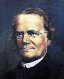 Mendelův nejznámější malovaný portrét.