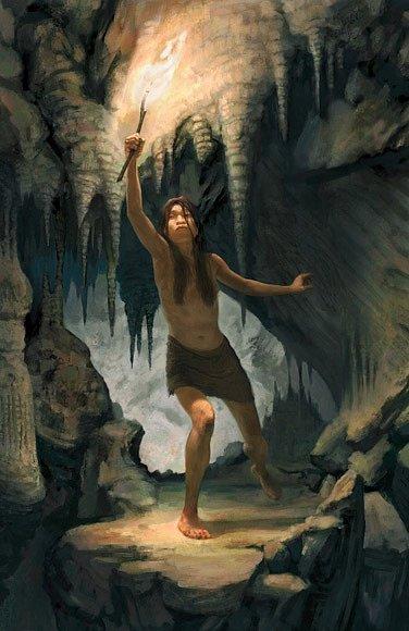 Naia se možná zabila, když zkoumala temné chodby jeskyně (vpravo) a spadla do propasti.