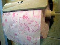 Hello Kitty toaletní papír se prodává v Číně.