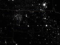Severní Dakota v noci.