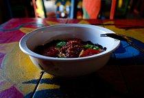 Tradiční jídlo Indio Viejo vtradiční restauraci