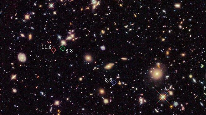 Nejstarší a nejvzdálenější galaxie jsou staré více než 13 miliard let. Vědci jich objevili dokonce sedm