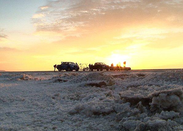 Rekord padl při jízdě na solných pláních v Bonneville v Utahu.
