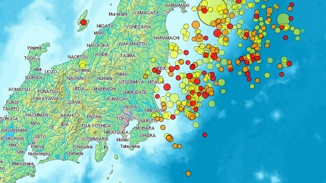 Všechna zemětřesení roku 2011 - VIZUALIZACE