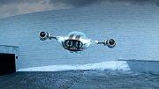 Prototyp letadla s označením V2 zhruba necelé dva kilogramy s rozpětím křídel 5 metrů.