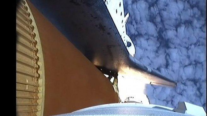 VIDEO snů: Start raketoplánu nafilmovaný z raketoplánu