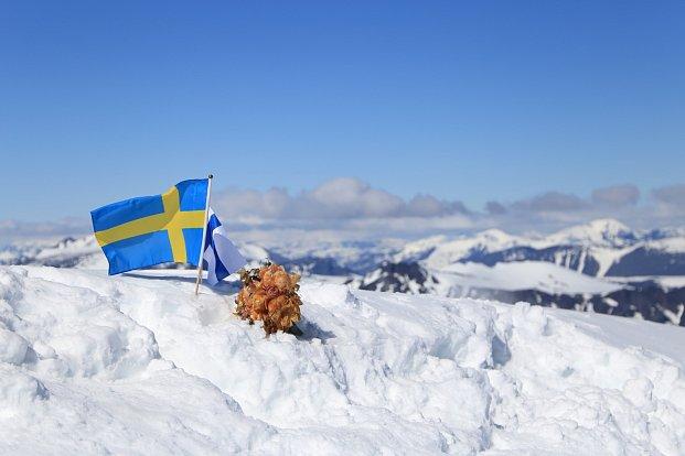 Horké léto mění nejvyšší bod Švédska