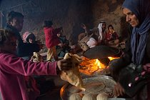 Beduínská hostina nedaleko Petry