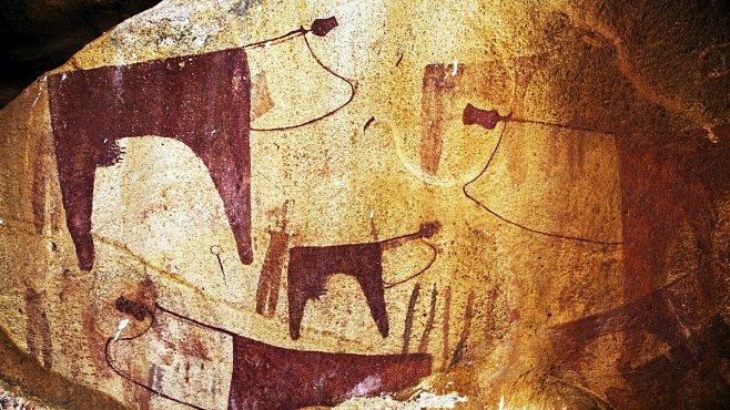 Jeskynní malby Laas Geel vypadají, jako by je někdo namaloval včera