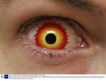 Mandatory Credit: Photo by Kevin Smith/Solent News / Rex Features ( 1085405i ) One of Kevin Smith\'s eye-catching contact lenses called \'Darth New\' Eye-catching contact lenses by Hollywood special