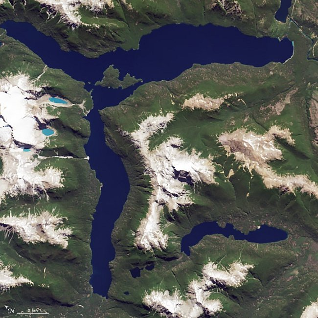 Písmeno R – Jezero Menendez v Argentině