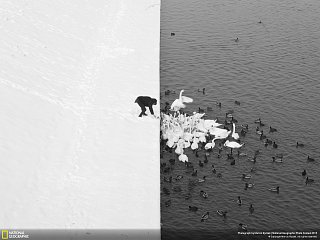 Černobílá momentka