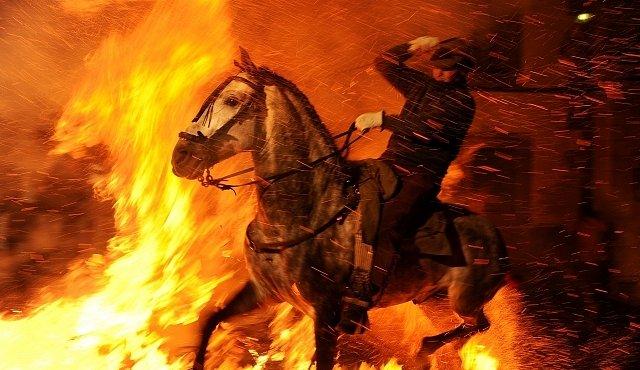 Koně v ohnivé výhni: drsný španělský zvyk nešetří lidi ani zvířata