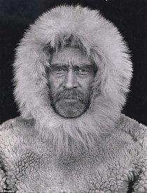 Portrét Roberta E. Pearyho (1856-1920) během jeho expedice na severní pól.