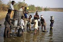Řeka v Ghaně.