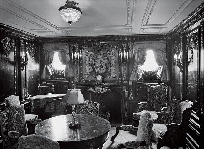 Apartmá na lodi Olympic, které se podobalo tomu na Titaniku.