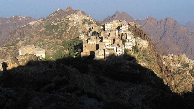 Jemenské pohoří Bura z mlhy zrozené