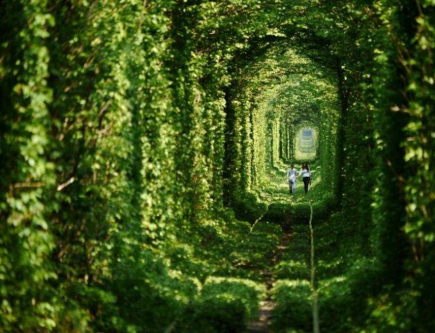 Tunel se nachází u města Klevan na východní Ukrajině.
