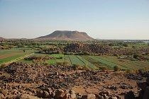 Krajina při jihozápadním okraji pohoří Sabaloka, výzkumy ČEgÚ.