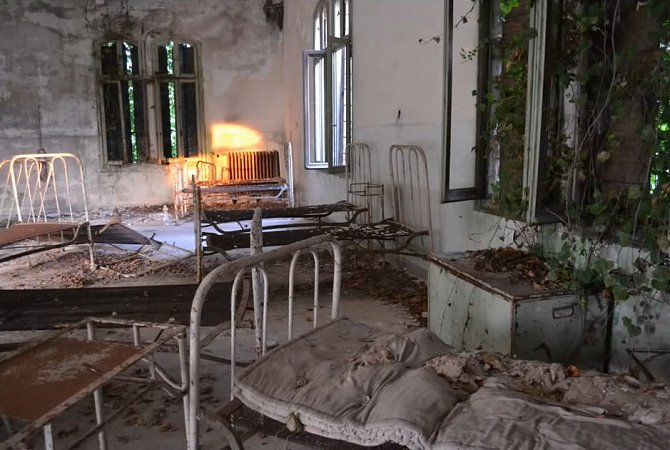 Bývalá psychiatrická léčebna na ostrově Poveglia