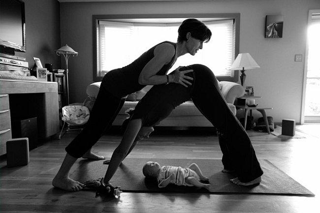 Jóga s dítětem.