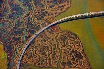V bažinách španělské Andalusie je několik mostů, které umožňují projet tímto územím.