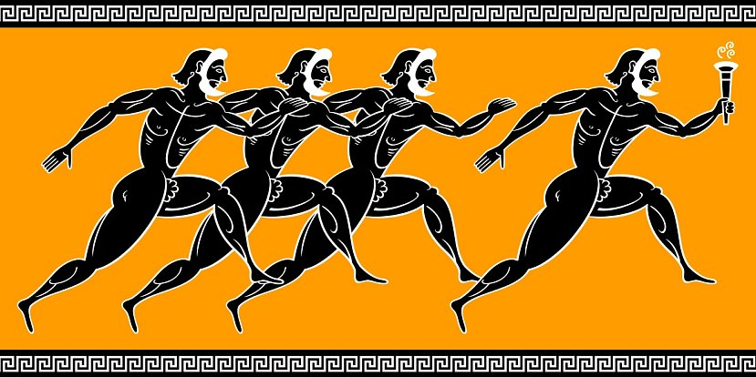 Navzdory válečné inspiraci znamenaly olympijské hry dočasný mír mezi neustále válčícími řeckými městskými státy. Nápis na bronzové desce známý jako Posvátné příměří zajišťoval bezpečný průchod pro sportovce a přerušení válečných aktivit.