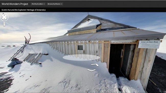 Virtuální procházka Antarktidou ve stopách Scottovy expedice