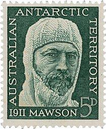 Známka s Mawsonovou podobiznou