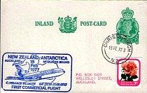 Obálka s razítkem k výročí prvního komerčního letu do Antarktidy.
