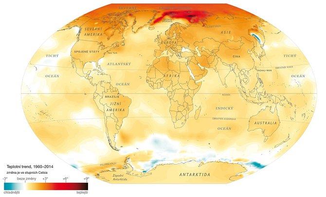 Mapa ohřívání světa