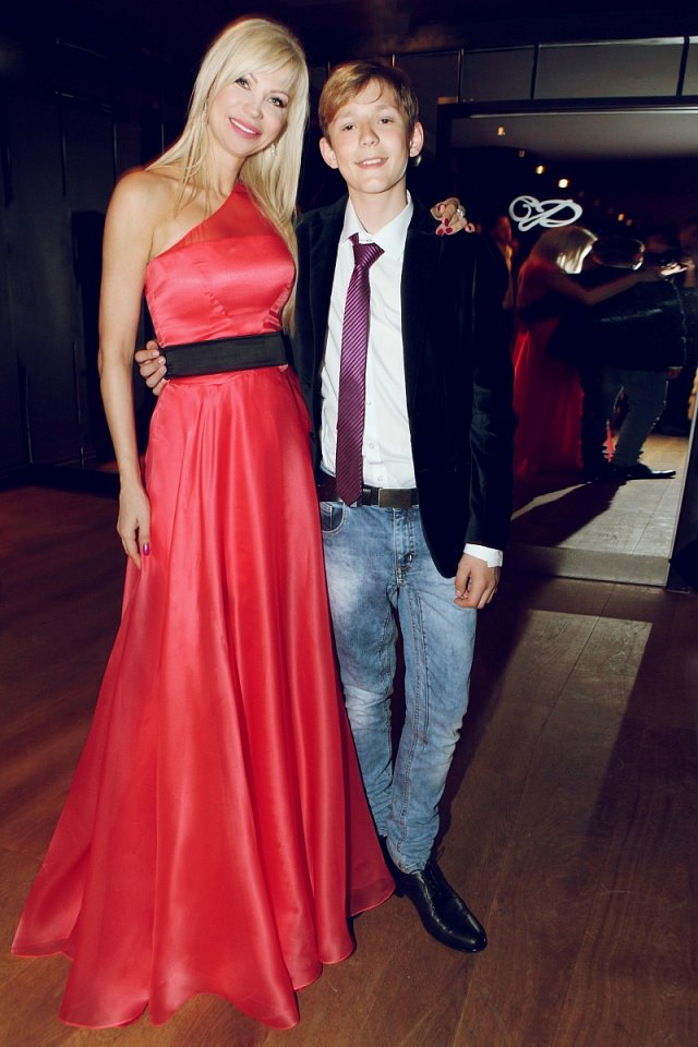 Natali Ruden se svým synem