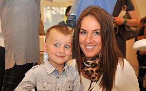 Lucie Králová se synem