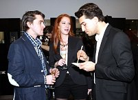 Karel Heřmánek mladší se svou přítelkyní a Jordanem Hajem, s nímž se potkal například v seriálu Gympl.