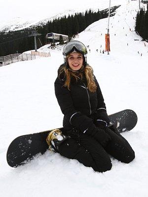 Gabriela Franková se na snowboard letos postavila poprvé.